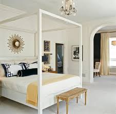 white canopy bed transitional bedroom tish key interior design