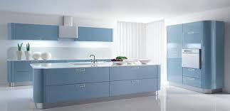 meuble cuisine bleu meuble cuisine bleu cuisine design arrondie laque bleu ciel swd