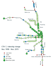 L Train Chicago Map by Cta Reports Huge Ridership Gains On Blue Line Losses On South
