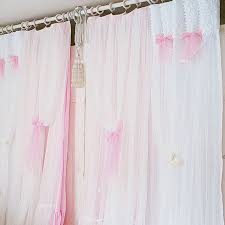 White Curtains For Bedroom Princess White Pink Curtain Lace Window Curtains Bedroom Living