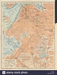 Old Map New York City by Brooklyn Antique Town City Plan New York City Baedeker 1904