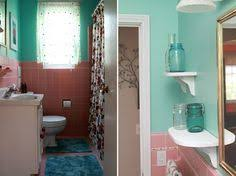 janice adds a 1950s pink bathroom to her mid century house from