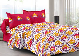 Traditional Design Buy Welhouse Red U0026 Traditional Design Color Fastness Cotton Double