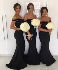 black bridesmaid dresses black mermaid bridesmaid dresses for wedding 2017