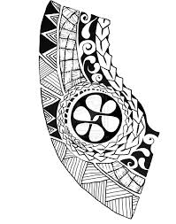 tattoo design plenty of typical samoan motifs and symbols by
