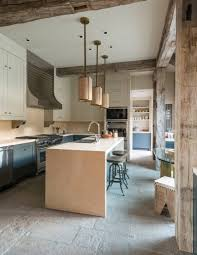 Rustic Kitchen Pendant Lights by Kitchen Style Blue Cabinet With Khaki Hanging Pendant Lights