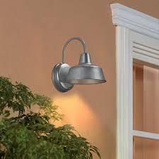 Dark Sky Outdoor Lighting Fixtures by Shop Portfolio Ellicott 10 75 In H Galvanized Dark Sky Outdoor