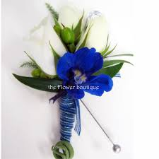 royal blue boutonniere prom 350 jpg