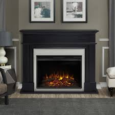 real flame harlan grand 55 in electric fireplace in black 8060e