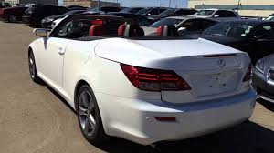 lexus convertible sports car lexus certified pre owned white on red 2012 is 350c 2dr