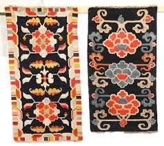 tappeti tibetani lotto di due tappeti tibetani inizio xx secolo antiquariato