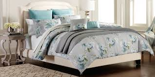 Blue King Size Comforter Sets Cannon 7 Piece Comforter Set U2013 Grey Floral Home Bed U0026 Bath