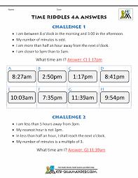 clock worksheets online time worksheet time riddles harder
