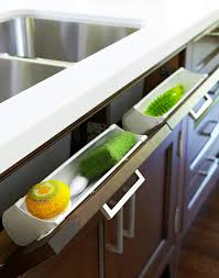 kitchen cabinet sponge holder tilt out sponge drawer transitional kitchen anne hepfer designs