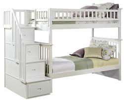 small bedroom white bunk beds with stairs twin over full