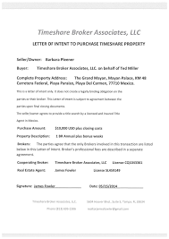 Letter Of Intent Business Purchase by Timeshare Fraud Alert James Fowler U0026 Ted Miller Scam