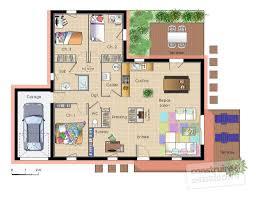 plan maison contemporaine plain pied 3 chambres plan maison contemporaine plain pied plan maison