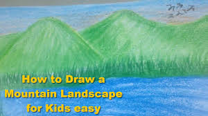 Paint Places by How To Draw A Mountain Landscape For Kids Easy Beautiful Places