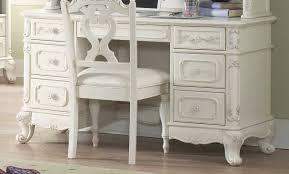 White Victorian Desk by Homelegance Cinderella Bedroom Collection Ecru B1386