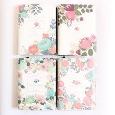 time design planner domikee cute cartoon flower design zipper school spiral notebooks