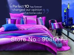 Plum Duvet Cover Set Plaid Reversible Piece Bedding Set Full Queen Purple Bed Linen