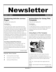 best photos of newsletter template examples free newsletter
