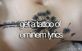 eminem s lyrics are so powerful and the to me i want to