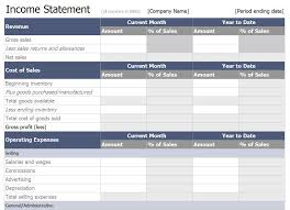 Income Statement Excel Template Excel Income Statement Template