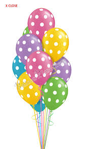 balloon delivery fort lauderdale pastel polka dots just for balloon bouquet 13 balloons