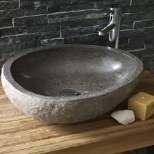 Bathroom Sink Stone Tvättställ Hill Natural Stone Tibern River Stone Natural Stones