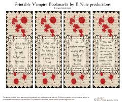 bnute productions free printable vampire bookmarks halloween