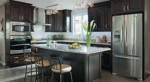 dark chocolate kitchen cabinets elegant kitchen remodel busy family space masterbrand