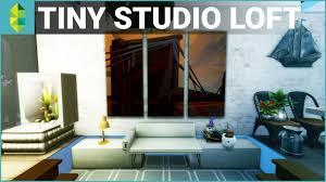studio house the sims 4 house building tiny studio loft youtube