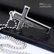 stainless cross necklace images Wholesale wholesale mens boys stainless steel double cross jpg
