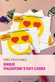 free cards free printable emoji s day cards by claudya