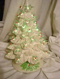 lighted large feather ceramic tree w cardinals and snow