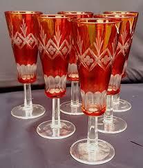 bicchieri boemia set di sei bicchieri flute in cristallo di boemia catawiki