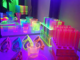 neon party ideas party theme decor page of for baby shower neon glow in