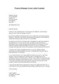 sample cover letter for finance manager position 4158