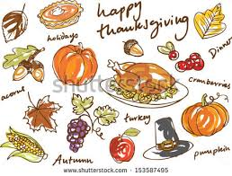 thanksgiving icon doodle vector illustration stock vector