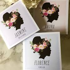 bridesmaid cards silhouette bridesmaid card bridal and wedding