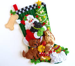 christmas stocking finished bucilla stocking personalized felt