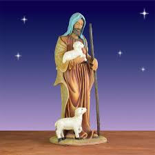 shepherd with lambs statue christmasnightinc com