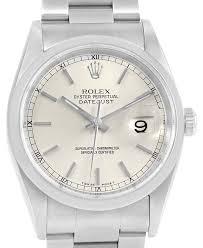 silver rolex bracelet images Rolex silver datejust baton dial oyster bracelet mens 16200 watch jpg