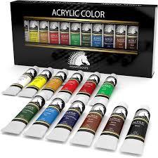 amazon com myartscape acrylic art paint set 12 x 21ml tubes