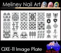 qxe 13 image plate meliney nail art supplies
