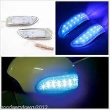lexus indicator lights a6 led daytime running projector headlights bumper fog lights blue