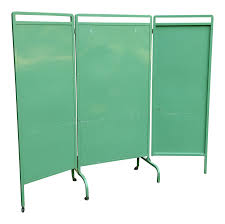 Industrial Room Dividers by Large Industrial Metal Folding Screen Room Divider Chairish