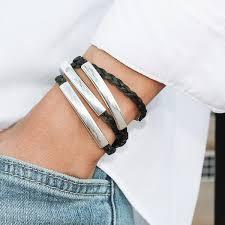 braided leather wrap bracelet images Mini addison braided leather wrap bracelet by lizzy james terrestra jpg