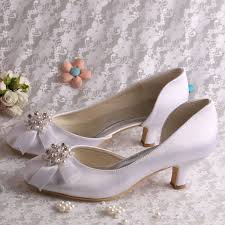 wedding shoes low heel pumps aliexpress buy 20 colors white pearl wedding shoes low heel